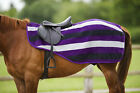 "New Equitheme 60"" 6'9 Purple Grey Striped  Polar Fleece Exercise Sheet 400150150"