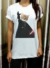 Cat Vader Funny Geek Summer Street Rocker Womens T Shirt Tshirt Short Sleeve