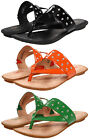 Born Womens Krysten Black or Orange or Green Flip-Flops Beach Thong Sandals