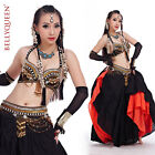 Tribal Professional Belly Dance Costumes Outfit Set 2Pics Bra Belt 3colors