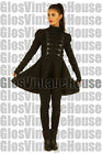 Black cotton blend Gothic Steampunk Ladies Top cyber Gothic Jacket