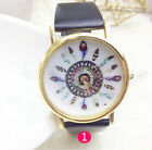 Women/ladies Quartz Wrist Watch Leather Band Watches Geneva Fashion Wristwatch