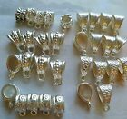 FINDINGS Mixed Silver Plated BAILS. Each bag with 32 pieces each 13 mm-15mm long