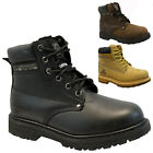 MENS GROUNDWORK LEATHER SAFETY WORK BOOTS STEEL TOE CAP SHOES TRAINER HIKER