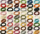1mm Round Real Genuine Hide Leather Lace Thong Cord 26Colors 1-5yards Jewelry