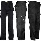 Mens Tuff Duty Cargo Trousers Construction Work Pocket Tuff Stitched Military
