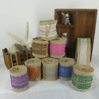 2m Jute Hessian Burlap Ribbon With Lace Trim Edge Craft Wedding Favours 8 Colors