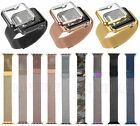 Magnetic Milanese Loop Watch band Color Metal Plated Cover For Apple Watch