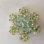 Free Shipping Dazzling Crystal Rhinestone Safety Brooch Pin Green Pink White