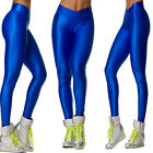SHOWSTAR Women's V Waistband Ankle Leggings Fluorescent Colors Pants for Party