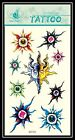 Sun Fire Seven Color Stone Totem Masks Removable Temporary Tattoo GF542