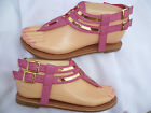 FUCHSIA GLADIATOR GIRLS SANDALS GERRY SIZES : 9-4