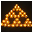 Lot 24 Battery-Operated LED Tea Light Wedding Candle with Timer For Multi-Color