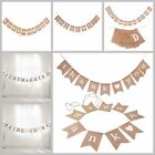 Just Married & Mr & Mrs Hessian Burlap Bunting Banner Wedding Party Decorations