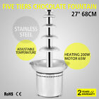 "Large New 5 Tiers Stainless Party Hotel Commercial 68cm 27"" Chocolate Fountain"