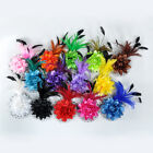 Feather Flowers Hair Belly Dance Costume Head Pieces 14colors