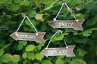 Brown wooden hanging  arrow Sign Wedding - Party - This Way  decoration Choose