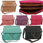 Ladies Designer Multi Pockets Flap Messenger & Cross Body Bag Satchel With Chain