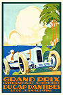 Vintage Art Deco French Grand Prix Poster Antibes Juan Les Pins 20s Motor Racing
