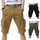 Men Army Cargo Camo Combat Military Shorts With Belt Multi Pockets Size 28-38