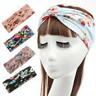 Fashion Women Flower Hair Band Turban Headband Twisted Knotted Yoga Head Wrap