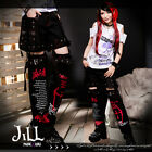 punk visual Devil rock satanist waist bag unisex shorts w/ leg warmers GA331