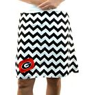 Chevron Georgia Bulldogs Dawgs Gameday A Line Striped Sports Women Skirt XS~ XL