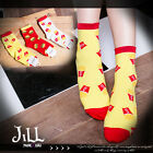 american cartoon fantasy Junk food family Uncle Mcdonald giddy print ankle socks