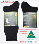 FREE POST- All Cushioned socks 94% Bamboo ALL Cushioned from $5.4/pair + freight