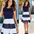 Women Elegant Pleated Chiffon Dress Cocktail Party Skater Casual Pleated Dresses