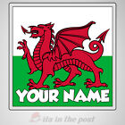 PERSONALISED WALES FLAG  - COASTER - GREAT GIFT TABLE COASTERS!!
