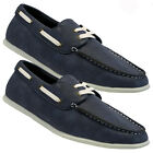 MENS BOAT SHOES CASUAL DECK LOAFERS MOCASSIN SMART BLACK COMFORT DRIVING SHOES