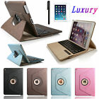 iPad Air 2/1 Pro 360 Rotating Leather Case Folio Cover with Bluetooth Keyboard