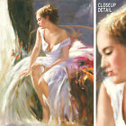 "36W""x48H"" MORNING BREEZE - PINO DAENI-STYLE ORIGINAL HAND PAINTED OIL ON CANVAS"