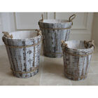 small wooden buckets