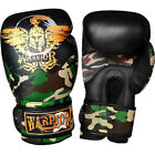 Warrior Muay Thai Kick Boxing Air Gloves Green Black 02 Camouflage Sparring