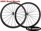 Straight Pull R36 hub 650C 38mm Clincher carbon bike wheels tubeless compatible