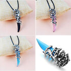 1Pc Fashion Men's And Boys' Punk Stainless Wolf Tooth Pendant Necklace Jewelry