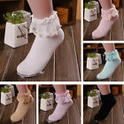 Princess Girl Cute Lovely Women Ladies Vintage Lace Ruffle Frilly Ankle Socks CB