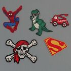 Dinosaur, Pirate, Spiderman, Superman Iron on Embellishments/ motifs *SALE*