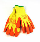 BUILDERS LATEX COATED GLOVES ANTI SLIP RUBBER WORK GLOVES DIY GARDEN GARDENING