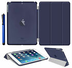 Magnetic Slim Leather Smart Cover Hard Back Case For Apple iPad Air 2 3 4 mini