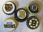 Boston Bruins Scrapbooking Crafts Bottle Caps Set #1 - Magnets Badge Reels $9.99 USD on eBay
