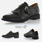 NEW Womens Patent Leather Tassel Fringe Evening Retro Party Brogues Shoes