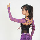 New Women Belly Dance Ballroom Bolero Shrug Stretch Lace Finger Loop Arm Gloves
