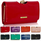 New Trifold Ladies Wallet Patent Designer Women Girl Purse Bobble Clasp Bags uK