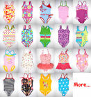 Girl Swimsuit 1pc One-Piece Swimming Tank Bathing Suit Baby Kid Children age 3 4