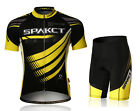 New Spakct Cycling Suits Short Sleeve Short Jersey & Tights Pants Yellow Black