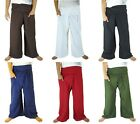 NEW Extra Long Cotton Thai Fisherman Pants Casual Hippie Yoga Pants Plus Size