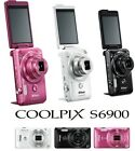New!! COOLPIX S6900 16MP Digital Camera with 12x Zoom 3 Colors Japan Import
